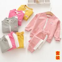 S女童洋气套装儿童时尚运动装两件套宝宝衣服春装2018新C934 LL