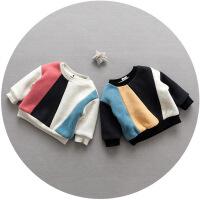 男童卫衣加绒加厚套头上衣冬季保暖儿童打底衫男宝宝冬装1-2-3岁4