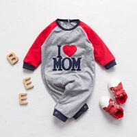 婴儿连体衣服冬季0岁5月加厚新生儿宝宝冬装可爱童睡衣新年
