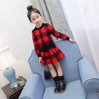乌龟先森 儿童套装 女秋款套装韩版童装运动套装中大童儿童长袖上衣裙裤两件套童装