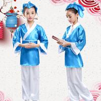 儿童汉服弟子规古装男女童书童幼儿演出服三字经孔子表演国学服装