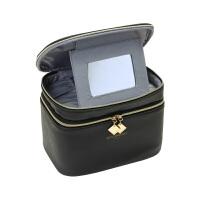 时尚化妆包韩国镜子PU小号便携大容量化妆箱化妆品收纳包可爱潮