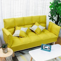 懒人沙发小户型卧室服装店租房小沙发折叠简易床双人榻榻米网红款