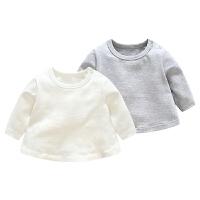 婴儿3衣服1岁6个月宝宝春季长袖上衣儿童T恤新生儿外出服