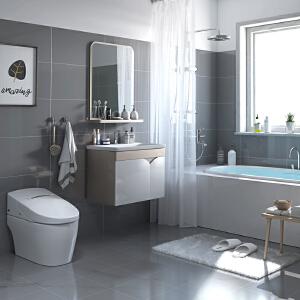 【每满100减50元】JOMOO九牧PVC小户型浴室柜组合浴室储物柜洗漱台面盆镜柜吊柜A2169