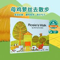 全店满300减100】Rosie's is Walk 母鸡萝丝去散步 大开平装书 廖彩杏推荐韵文与歌谣 建立快乐回忆 美