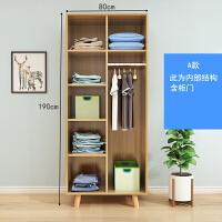 北欧实木衣柜简约现代经济型组装两门衣柜小户型简易衣橱卧室家具 2门 组装