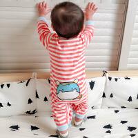 20180427062008657婴儿连体衣服春秋初生女宝宝春装12满月0岁3个月6新生儿纯棉套装