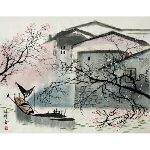 刘懋善 苏州国画院副院长 印象派山水画家 国画《水色江南》