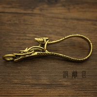 创意手工配件 纯铜黄铜龙马钥匙扣 创意钥匙串汽车钥匙钩创意礼品礼品
