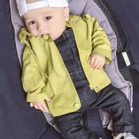 婴儿宝宝衣服6春装1岁3个月新生儿休闲风衣外季薄款外套