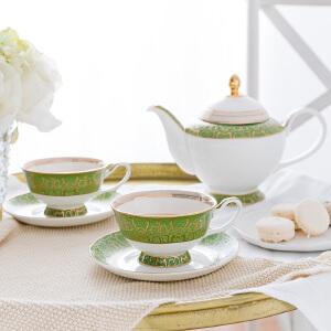 奇居良品 下午茶陶瓷茶具咖啡杯碟套装 萨瓦骨瓷茶壶咖啡杯碟