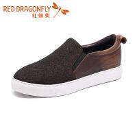 红蜻蜓女鞋秋季休闲鞋韩版运动板鞋休闲一脚蹬鞋单鞋