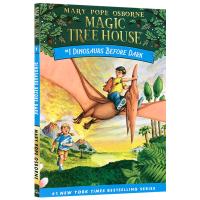 正版现货 神奇树屋1英文原版 Magic Tree House Dinosaurs Before Dark 恐龙谷历险