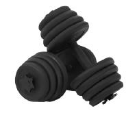 飞尔顿健身器材全塑哑铃 10 15 20 25 30 35 40 50公斤包胶哑铃一对