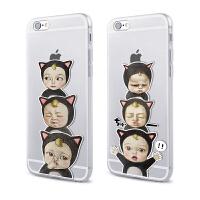 【全国包邮】hidog 苹果iPhone6s手机壳4.7卡通搞怪趣味宝宝6P硅胶软套5s外壳萌