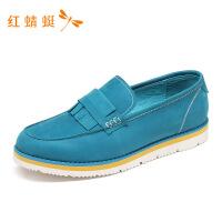 【1.16领券立减150】红蜻蜓新款低跟套脚轻便舒适粗跟休闲皮鞋男WTA7148-