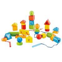Hape创意串珠套3-6岁儿童益智早教玩具婴幼玩具木制玩具E1019