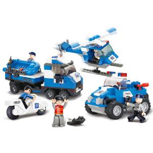 【当当自营】小鲁班城市特警系列儿童益智拼装积木玩具 紧急行动(海陆空)M38-B0190