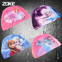 洲克新款儿童泳帽女童时尚舒适防晒男童针织布质泳帽
