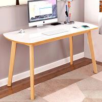 简易桌子宜家家居卧室简约写字桌实木书桌台式电旗舰家具店