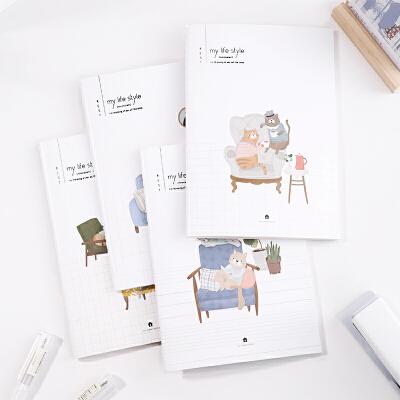 得力A5清新缝线记事本60页笔记本 文具学生日记本作业本 颜色是混发的哦