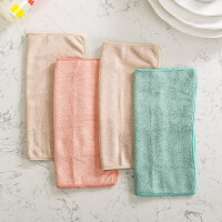 奇居良品 纤维抹布毛巾吸水洗车巾不掉毛洗碗巾抹布 4条装