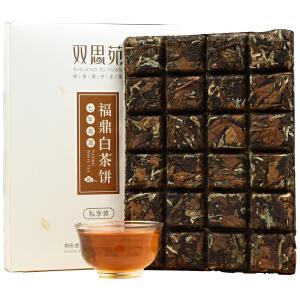 祺彤香茶叶 7年老白茶寿眉 正宗福鼎白茶 巧克力茶饼24泡礼盒装