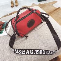 12新款冬新款女包欧美时尚枕头包撞色波士顿手提包宽肩带单肩斜挎包 红色