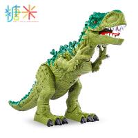 糖米超大恐龙玩具电动下蛋仿真动物遥控霸王龙会走儿童套装男孩