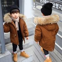 儿童棉衣加厚男童袄冬装女宝宝中小童5长款外套潮9岁