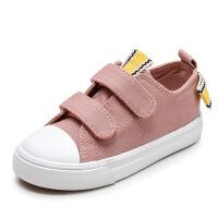 儿童帆布鞋低帮女童板鞋春季女童休闲单鞋学生鞋