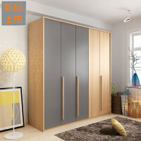 衣柜简约现代经济型板式家具二三门卧室柜组合组装北欧大衣橱定制 +