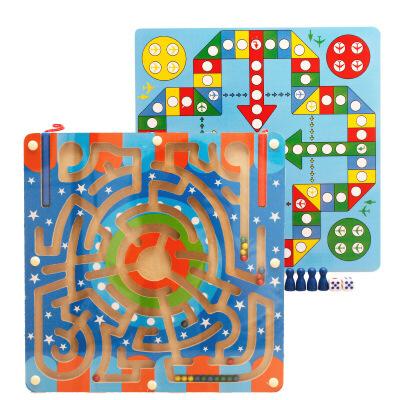 【限时抢】木丸子二合一磁性迷宫组合儿童益智玩具 【现在已停止发货,2月1日恢复发货】