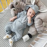 夏季新生儿0韩版秋款爬服1岁新款女7新生儿棉三角62宝宝衣服3开档
