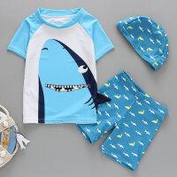 儿童泳衣男童分体泳裤套装男孩中大童卡通泳装小童宝宝游泳装备潮
