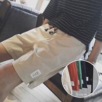 港风夏季亚麻短裤男生宽松五分裤轻薄透气中裤沙滩裤休闲大裤衩