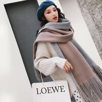 时尚新款围巾女冬季韩版百搭秋冬季加厚披肩针织毛线学生围脖冬天