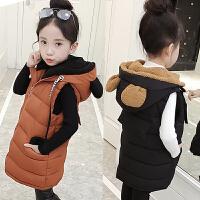 *儿童韩版时尚马甲棉衣女童保暖上衣小孩衣服2018冬装新款
