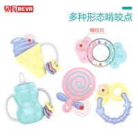 新生幼手摇铃玩具0-1岁婴儿3-6-12个月5男女宝宝可咬水煮益智牙胶