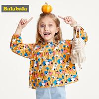 巴拉巴拉女童衬衫洋气 韩版秋装2019新款宝宝衬衣儿童上衣韩版棉