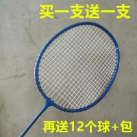 羽毛球拍2支耐打送12只羽毛球双拍健身套小学生儿童业余初级Z
