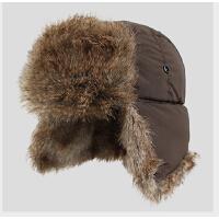 韩版潮皮草帽加厚冬帽护耳帽男保暖帽子冬天男士仿兔毛雷锋帽
