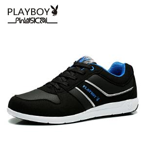 花花公子休闲鞋男鞋跑步鞋子透气潮韩版户外运动鞋男 动-DS65061