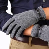 男冬保暖驾驶薄款简约男士羊毛手套男秋冬季保暖羊绒羊毛开车手套