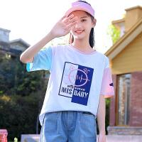 童装女童短袖T恤夏季中大童女装夏装儿童半袖上衣女孩