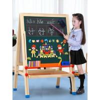 七巧板儿童磁性画板家用涂鸦画架小黑板支架式教学写字板宝宝画画