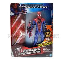 孩之宝 蜘蛛侠4 蜘蛛侠 可动 发声 发光 人偶 模型玩偶