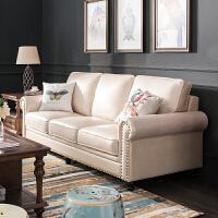 美式真皮沙发头层牛皮 小户型客厅复古油蜡皮沙发整装家具 其他