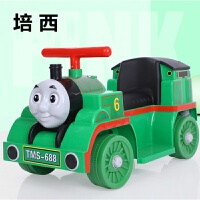 电动托马斯小火车可坐人无轨道小孩可坐儿童男孩玩具车四轮摩托车 绿色 单驱 小电瓶+早教功能